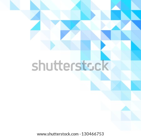 blue bright abstract triangles