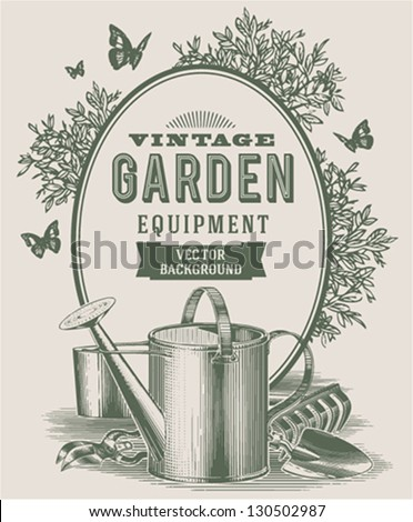 vintage garden background