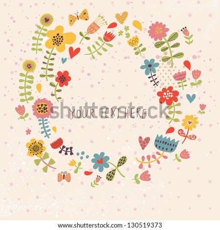 spring floral background in