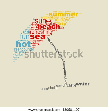summer concept made with words