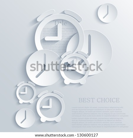 vector time icon background