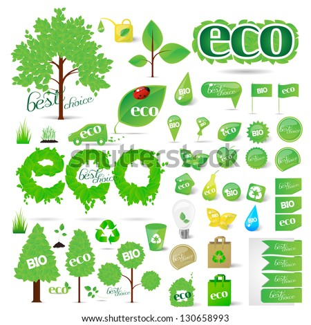 collection of ecology symbols