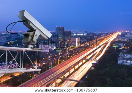 security camera detects the