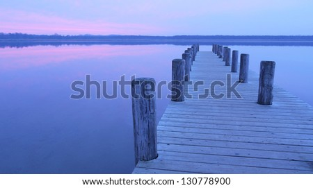 jetty at a lake in germany