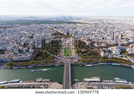 view of paris from the eiffel