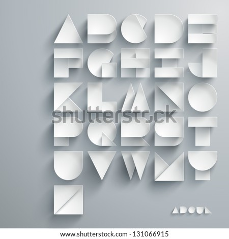 vector paper graphic alphabet