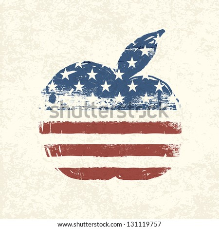 apple shaped american flag