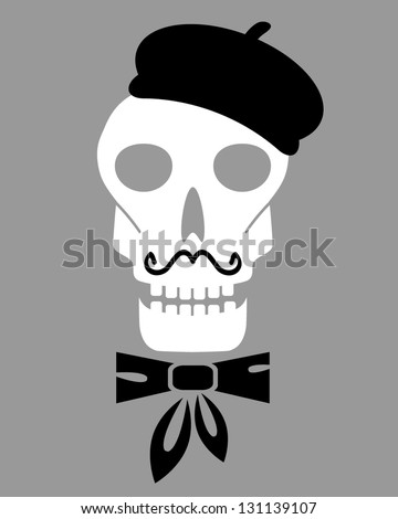 abstract skull silhouette with