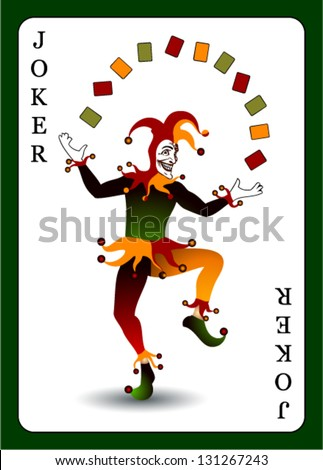 joker card vector background