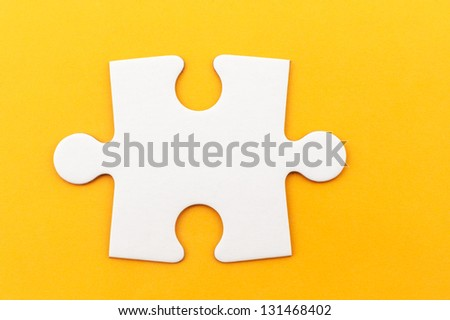 group of white paper jigsaw