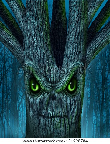 haunted tree with a mythical