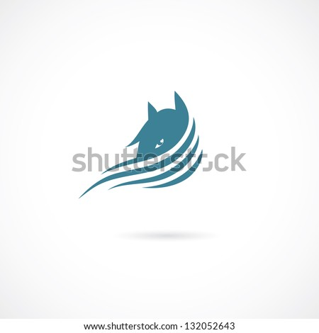 horse sign   vector illustration