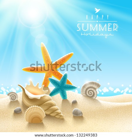 summer holidays illustration
