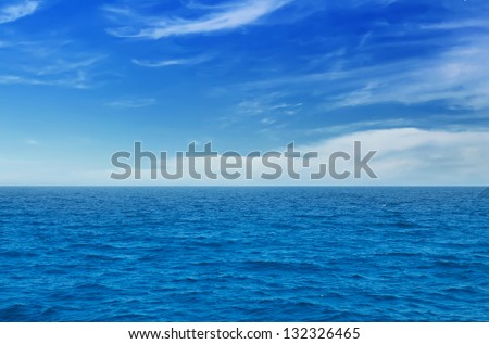 summer landscape with sea and