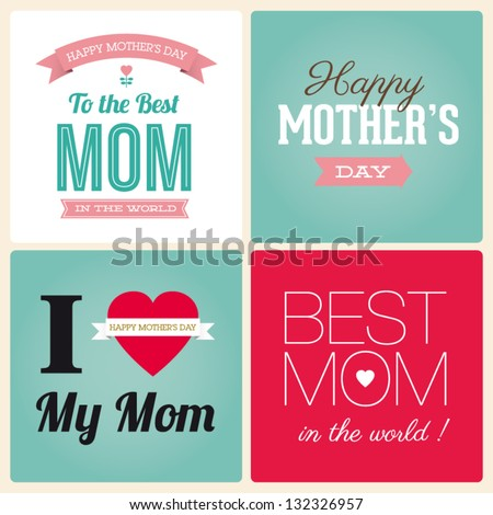 happy mothers day cards vintage