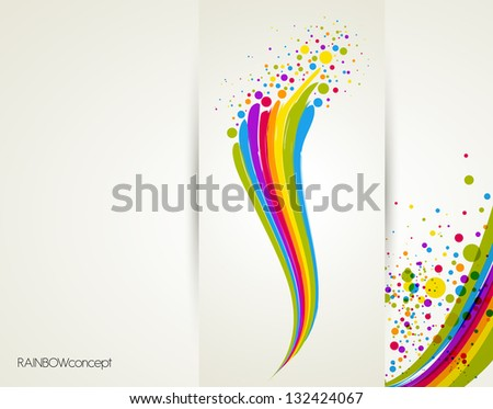 illustration with rainbow