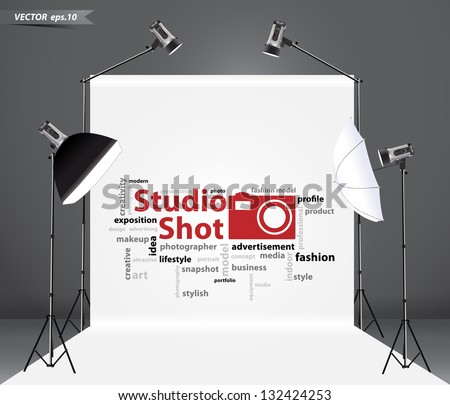 photography studio with a light