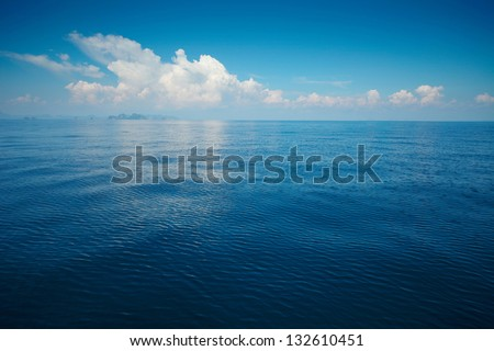tropical rippled and calm sea