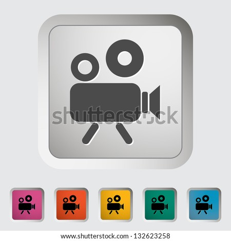 video camera single icon