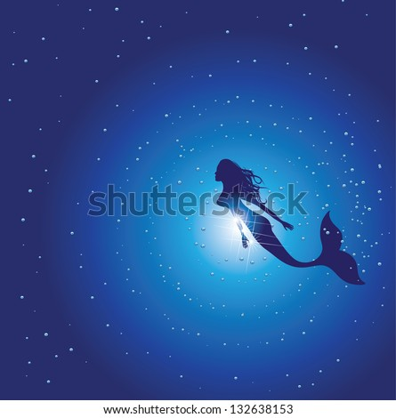 mermaid eps 8 vector  grouped