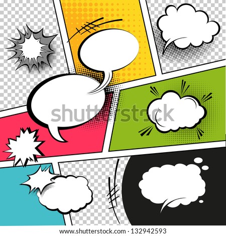 comic speech bubbles on a comic