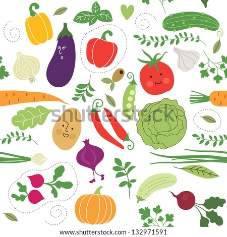 seamless pattern   vegetables