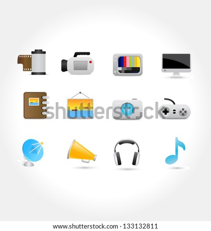 media icons 1 2   icon vector