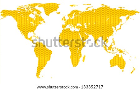 honeycomb map of the world