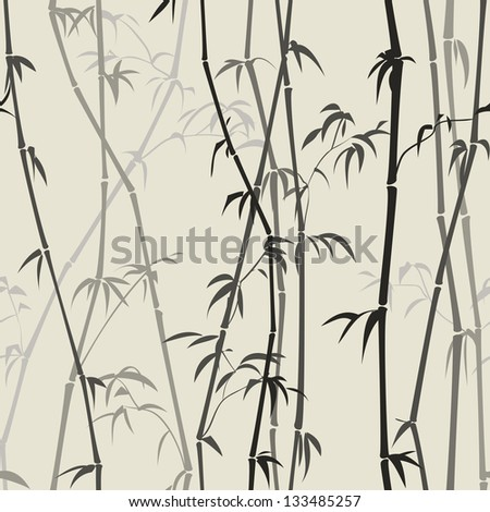 light background with bamboo