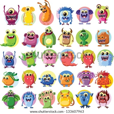 cartoon cute monsters