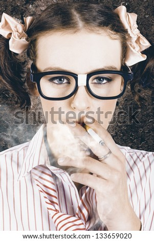 edgy grunge portrait of a
