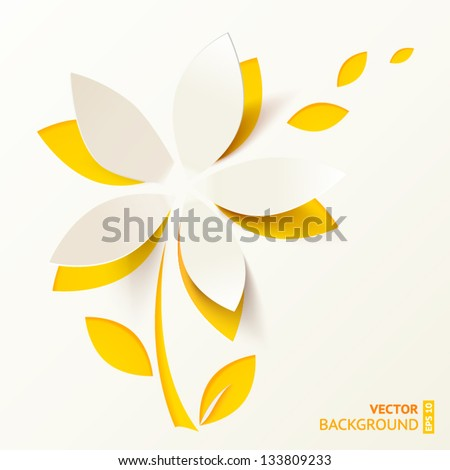 yellow cutout paper flower