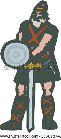 vector illustration of beowulf