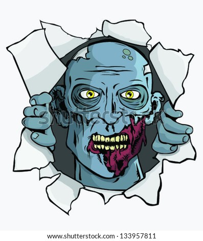 zombie attack  t shirt wall