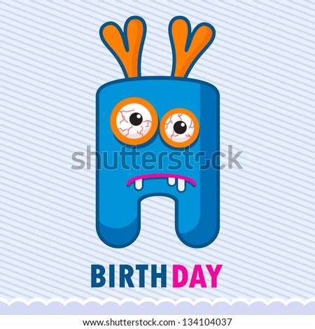 greeting card with cartoon