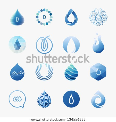 drops set of vector design