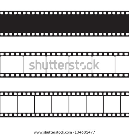vector film strip illustration
