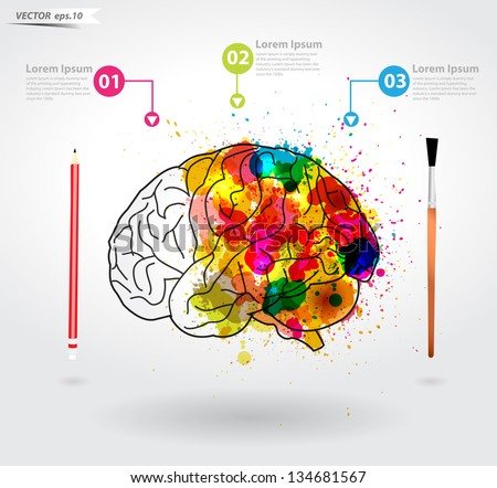 creativity brain  vector