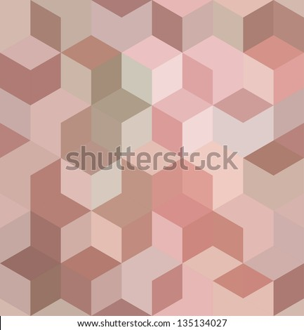 abstract geometric cube pattern
