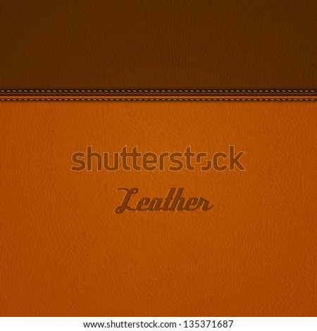 realistic stitched leather