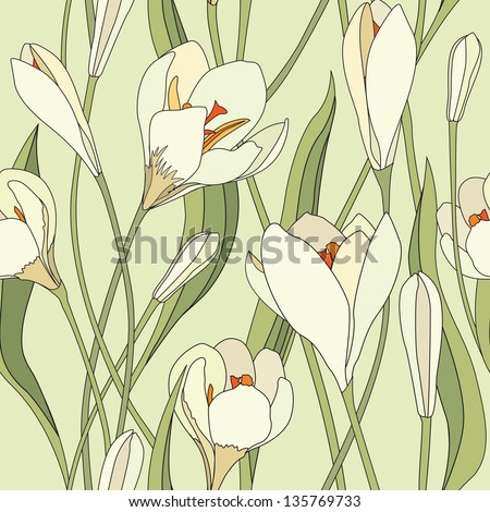 flower crocus seamless