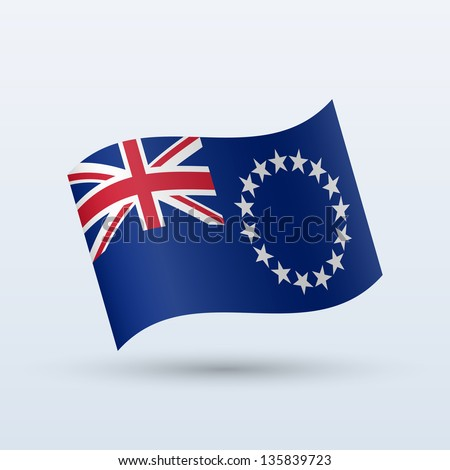 cook islands flag waving form