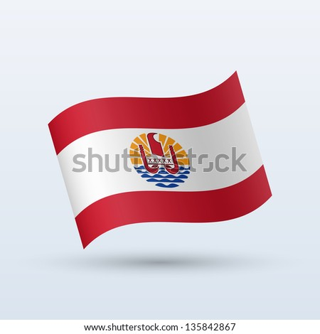 french polynesia flag waving