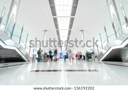 big light hall in dubai airport