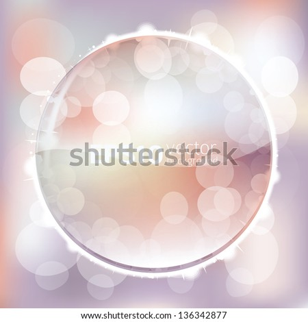 spring lights abstract vector