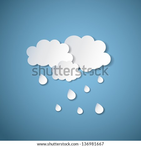 weather background with paper