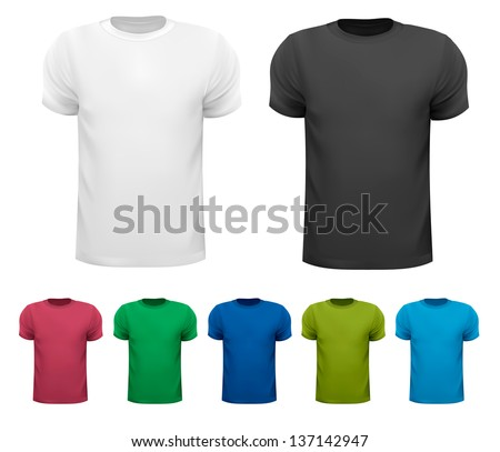 set of colorful male t shirts