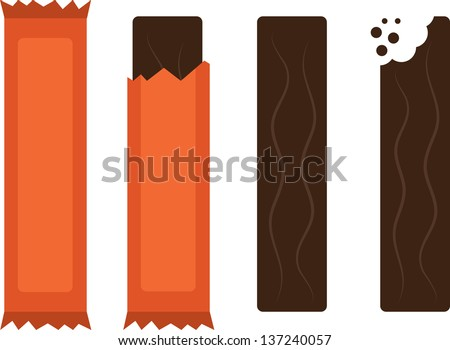 isolated chocolate candy bars