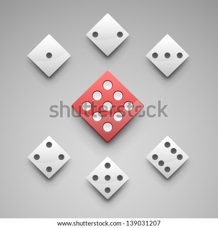 a set of vector dice