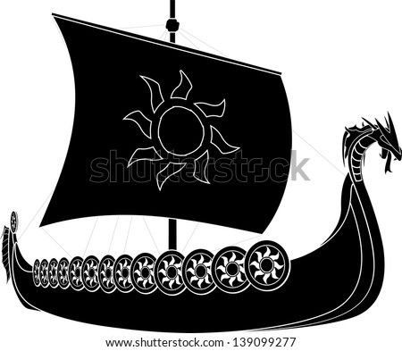 viking ship stencil second